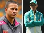 'Feels like guys are stabbing him in the back': Usman Khawaja backs Justin Langer, says 'it's not always 100 per cent coach's fault'(HT Collage)