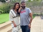 Priyanka Chopra with her brother Siddharth Chopra in London.