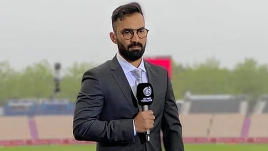 'Called Karthik (in frame) for advise a day before match. He was commentating in England': Chakravarthy(Dinesh Karthik/Instagram)