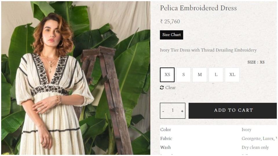 Priyanka Chopra in white embroidered dress. (shopverb.com)