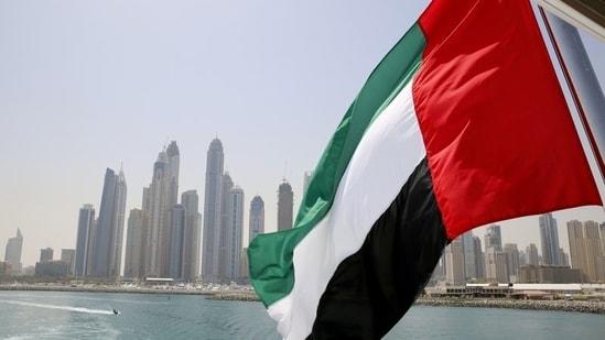 UAE flag flies over a boat at Dubai Marina.(Reuters File Photo)
