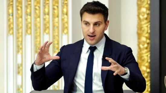 Brian Chesky, co-founder and CEO of Airbnb, announced the company's decision to host the Afghan refugees.(AP)