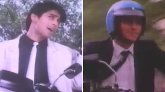Salman Khan in the bike ad from 1985.