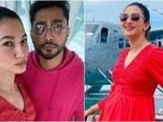 Gauahar Khan kickstarts Maldives birthday trip with Zaid Darbar in <span class='webrupee'>₹</span>2.7k red mini dress(Instagram/@gauaharkhan)