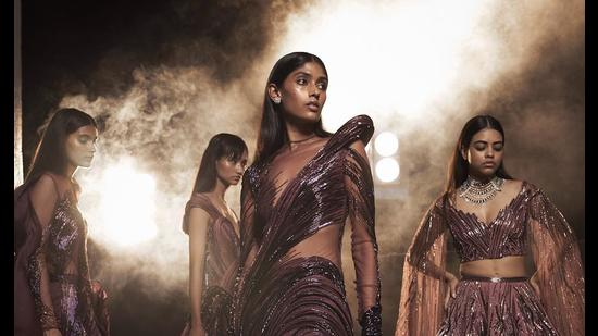 Models in Gaurav Gupta's latest couture collection - Universal Love