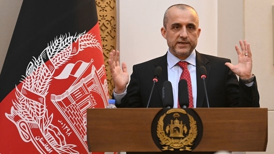 The self-proclaimed acting president of Afghanistan said only God will be able to evacuate his soul from the soil of the country.(AFP)