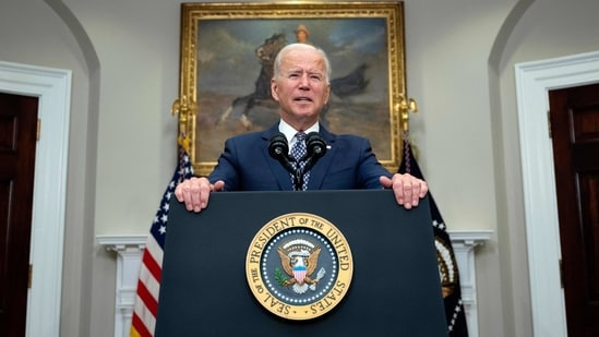 US President Joe Biden speaks about the ongoing evacuation of Afghanistan on August 24, 2021 from the Roosevelt Room of the White House in Washington, DC. (File Photo / AFP)