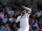 India's Mohammad Siraj bowls a delivery during the first day of third test cricket match between England and India, at Headingley cricket ground in Leeds, England, Wednesday, Aug. 25, 2021. (AP Photo/Jon Super)(AP)