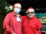Randhir Kapoor and Rajiv Kapoor at Kapoor family's Christmas party in 2020.