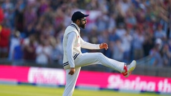 India's captain Virat Kohli reacts at the end of first day.(AP)
