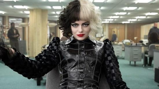 Cruella movie review: Emma Stone as Cruella De Vil.(Disney)
