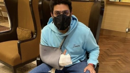Abhishek Bachchan has resumed work after his surgery.