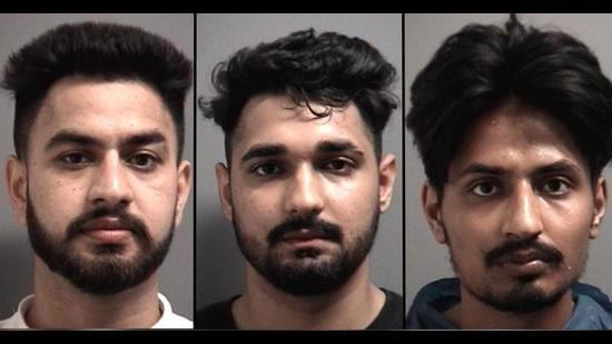 From left: Amritpal Singh, Harkuwar Singh, and Sukhmanpreet Singh. (Photo: Peel Regional Police)