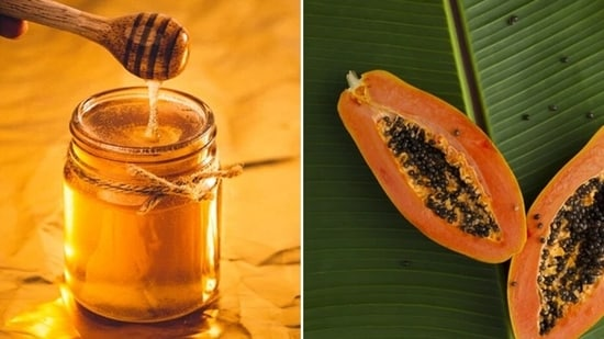 Honey-papaya pack: The papain enzyme in papaya will lighten the skin and remove tan. Mash some papaya and add some honey and make a smooth paste. Apply on face and other tanned skin areas and let it dry before washing.(Unsplash)