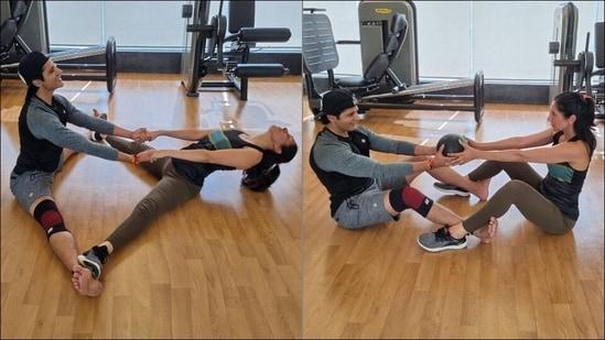 Karanvir Bohra, Teejay Sidhu's couple workout is fitness goals this Thursday(Instagram/karanvirbohra)