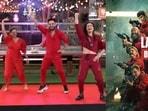 Bigg Boss OTT contestants Divya Agarwal, Millind Gaba and Akshara Singh dance to the Money Heist Anthem.