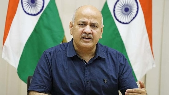 """Delhi's deputy CM Manish Sisodia further informed that a """"blended mode"""" will be followed in which online and offline classes will be held so that those who are at home do not miss out on their studies.(HT File)"""