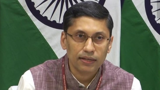 Spokesperson for the ministry of external affairs Arindam Bagchi.(Twitter/@ANI)