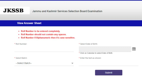 JKSSB answer keys 2021: Candidates who appeared for the JKSSB recruitment examination-2021 can check the answer key on the official website of JKSSB at jkssb.nic.in.(JKSSB )