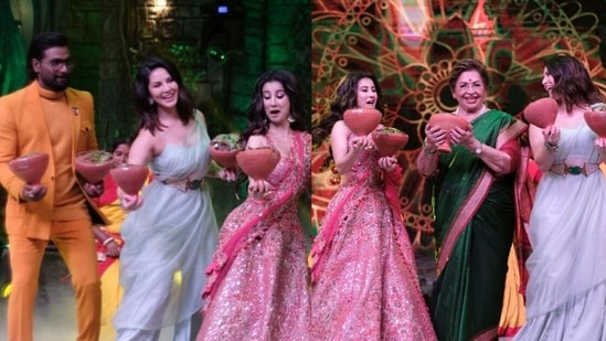 Sunny Leone shared pictures of her recent appearance on Dance Dance Junior 2.