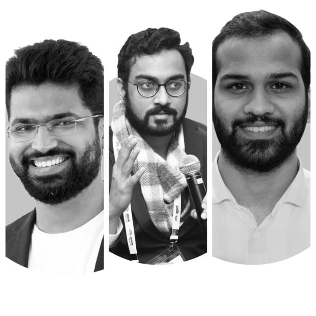 """(Left to right) """"We pick mentors who can pass on the right type of knowledge,"""" says Vipul Agrawal, who co-founded Unlu with Himanshu Periwal and Anurag Dalia."""