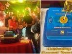 Aditya Narayan, Vishal Dadlani and Sonu Kakkar and others at the Indian Idol 12 party.