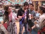Shamita Shetty and Akshara Singh caught up in an argument.
