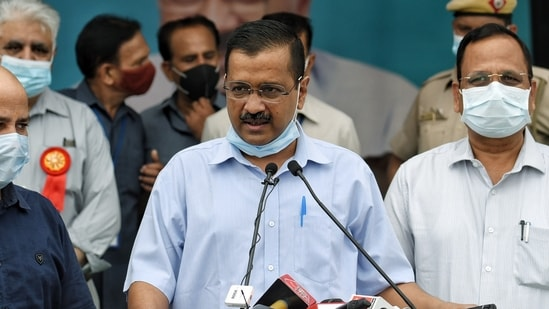 On being asked about the Covid-19 situation in Delhi, Kejriwal said it is under control.(ANI Photo)
