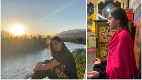 Sara Ali Khan in on a holiday in Ladakh.
