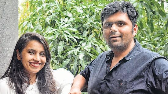 Aditi Bhosale-Walunj and Chetan Walunj, are the wife-husband team that founded Repos in Pune. (Shankar Narayan/HT PHOTO)
