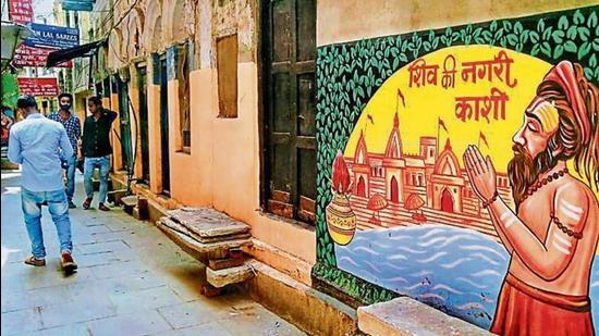 A beautified lane of Old Kashi. (HT Photo)