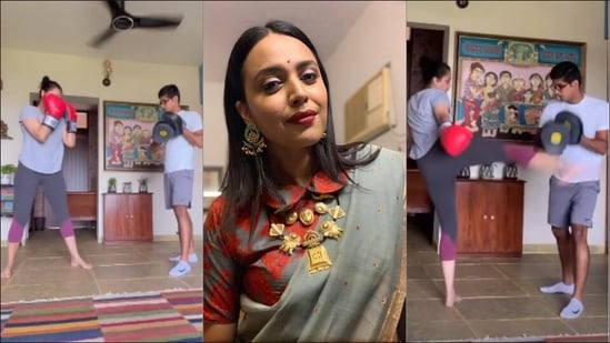 Swara Bhasker channels 'social media generated rage' into kickboxing(Instagram/reallyswara)
