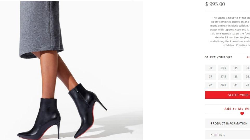 Nora Fatehi's Christian Louboutin boots.(christianlouboutin.com)