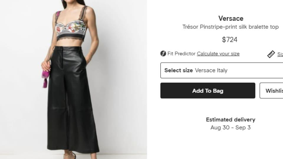 Deepika's Versace bralette top.(farfetch.com)