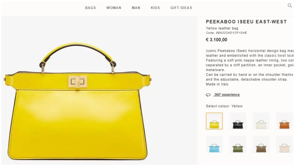 Nora Fatehi's Fendi bag.(fendi.com)
