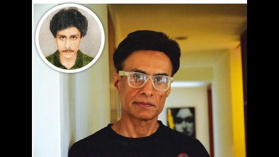 Arif Zakaria at 22 (inset) and at 54 (above)