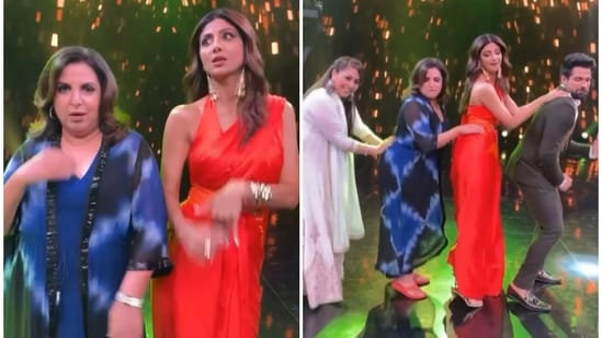 Shilpa Shetty danced with others in a behind-the-scenes video from Super Dancer 4 shared by Farah Khan.