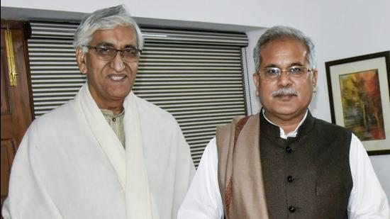 TS Singh Deo (left) and Bhupesh Baghel. (PTI File)