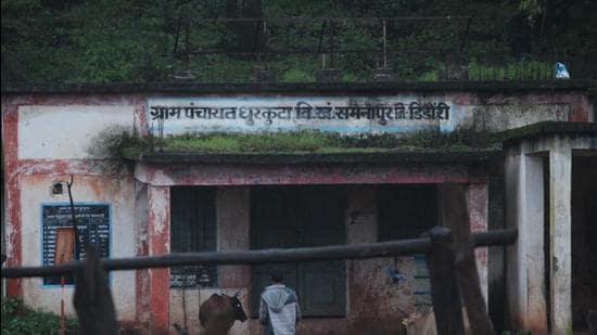 Dhurkuta village , the biggest bazaar of Baiga Chak. (Ritesh Mishra/HT photo)