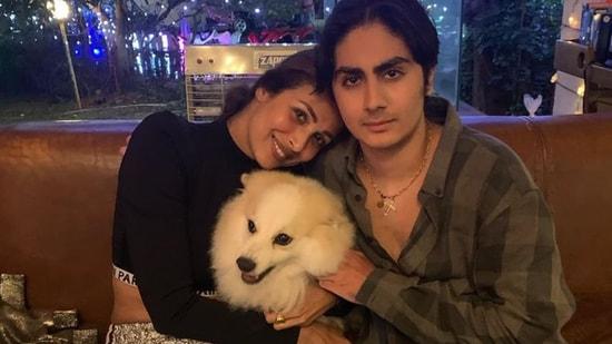 Malaika Arora and her son Arhaan Khan.