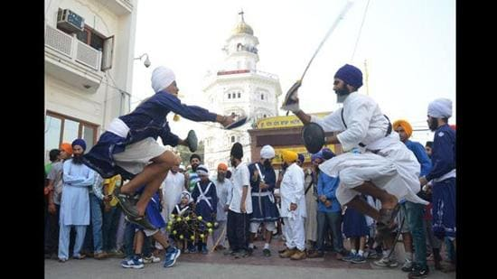 National Gatka Association president said that under the leadership of World Gatka Federation, the game will soon be inducted in the Olympics (HT file)