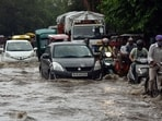 Commuters complained of traffic jams due to waterlogging in parts of the city on Twitter. The Delhi Traffic Police said that waterlogging was reported at Shahjahan Road, W Point ITO, Thyagaraja Marg, Lala Lajpat Rai Marg, Moolchand Underpass, AIIMS, Ring Road, Hyatt Hotel, both sides of the Savitri flyover, Maharani Bagh, Nizamudin Khatta, Dhaula Kuan to 11 Murti Marg and Anand Parbat Gali No 10.(ANI)