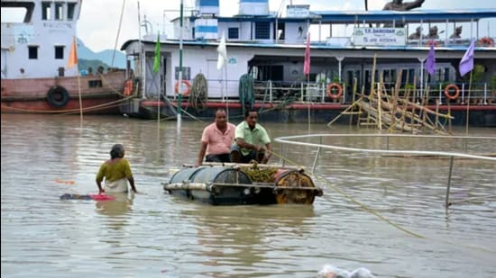 Nearly 40,000 hectares of crop area have also been affected due to inundation in the affected districts. (ANI)
