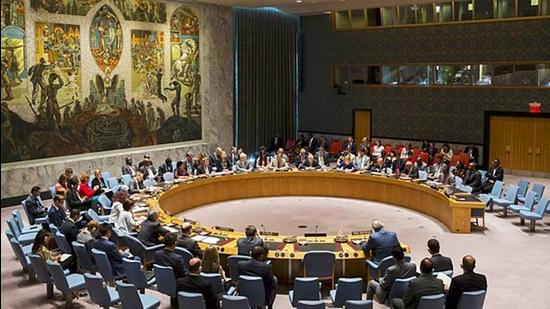 Members of the United Nations Security Council during a meeting at the UN headquarters in New York. (File photo)