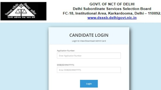 DSSSB admit card 2021: Candidates appearing in the examination can download their admit cards from its official website at dsssb.delhi.gov.in.(DSSSB )
