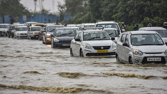 Several users complained of traffic jams due to waterlogging in parts of Delhi.(PTI)