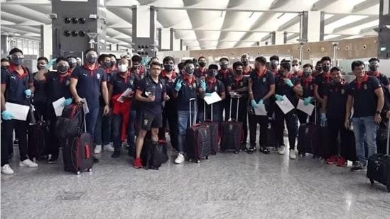 RCB arrives in UAE for the second leg of IPL 2021
