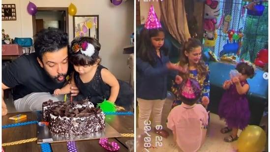 Aamir Ali and Sanjeeda Shaikh's daughter Ayra turned two.