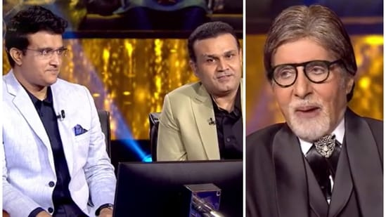 Kaun Banega Crorepati 13: Sourav Ganguly and Virender Sehwag will join Amitabh Bachchan on the show on Friday's episode.
