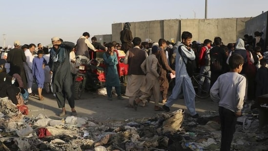 About 500,000 people have been displaced in Afghanistan this year,(AP Photo)
